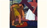 chemin de croix station ix, la troisième chute (étude) by louis léon eugène billotey