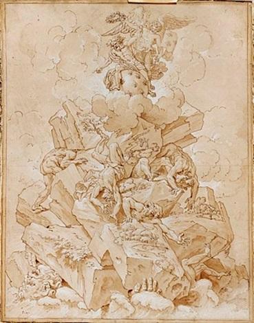 allégorie de jupiter aidant la france à terrasser les géants by jean baptiste corneille