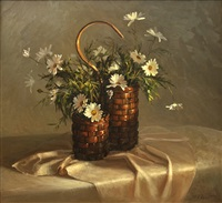 floral baskets still life by joe anna arnett