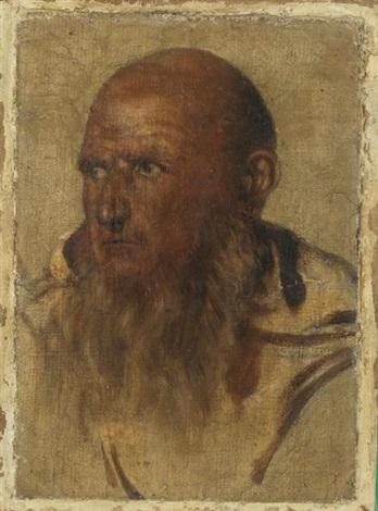 deux têtes de moines camaldules dom vincenzo frilli et dom romualdo giani pair by paul hippolyte delaroche