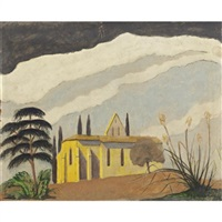 church on a hill in chantecaille by john bradley storrs