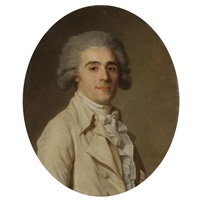 portrait of a gentleman, half length, wearing white by jean voilles