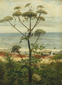 landscape with view over the sea by niels peter rasmussen