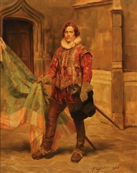 portrait of a cavalier by alex de andreis