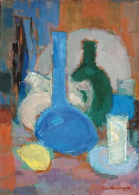nature morte aux flacons by ernest kosmowski