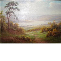 highland landscape (+ another; 2 works) by everett w. mellor