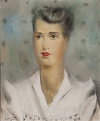 retrato de sra. theodore a. xanthaky by candido portinari