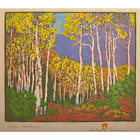 aspen red river by gustave baumann