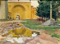 patio de la cadena del monasterio de santa maría del paular by enrique simonet lombardo