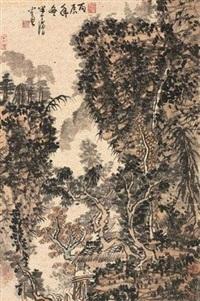 秋山幽居 (recluse in the countryside) by huang qiuyuan