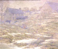 spring thaw, new hope by charles schell corson
