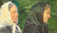 two women from skagen by anna kirstine ancher