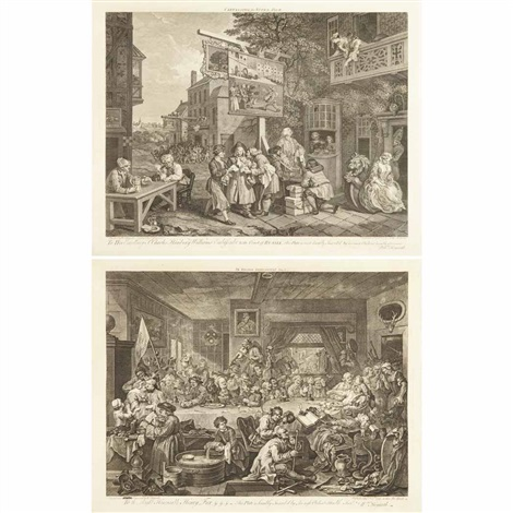 a harlot's progress (+ 33 others; 34 works) by william hogarth