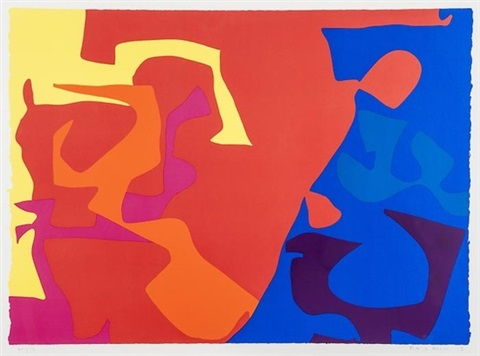 untitled pl 5 from january by patrick heron