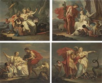the rape of europa (+ 3 others; 4 works) by giovanni battista crosato