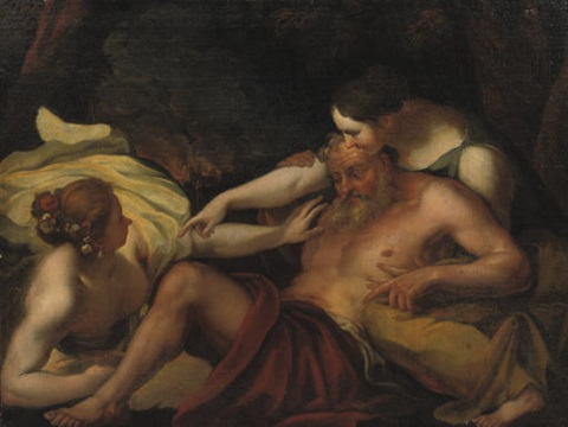 lot and his daughters by orazio gentileschi