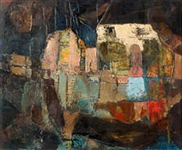 abstract composition with figures by frank sydney spears