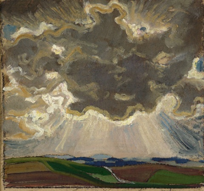 landschaft mit großer wolke by wilhelm dachauer