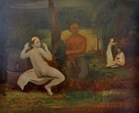 scène allégorique by georg jerzy merkel