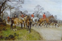 chasse à courre by gilbert scott wright