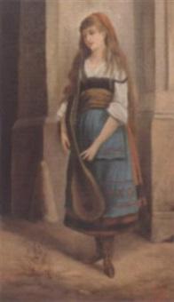 zigeunermädchen mit mandoline by johann till the younger