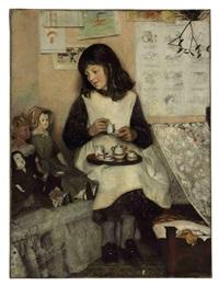 the tea party by laura theresa alma-tadema
