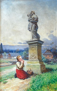praying girl by adolf liebscher