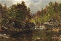 autumn stream by samuel lancaster gerry