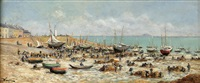 sorting nets at low tide by edmond louis marie wagrez
