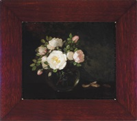 roses in a glass bowl (double-sided) by anna eliza hardy