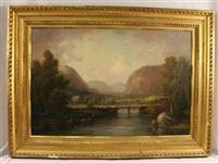 landscape with bridge by john white allen scott