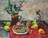 nature morte au pot de houx by franck innocent