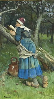 a maid of brittany by walter langley