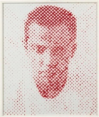 self portrait to stage blood by vik muniz