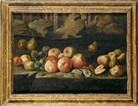 bodegón con manzanas, peras e higos by giuseppe recco