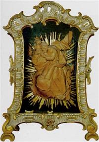 der heilige joseph verehrt das jesuskind by joseph gotsch
