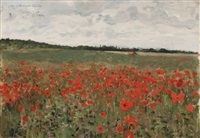 champs de coquelicots by george bertin scott