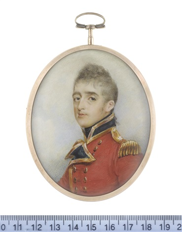 captain and lieutenant colonel stephen peacocke sr of the 3rd regiment of foot later scots guards wearing the uniform of the 3rd regiment of foot guards by george chinnery