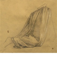 study for a kneeling figure by thomas couture