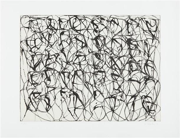 cold mountain series, zen studies 1-6: plate 1 by brice marden