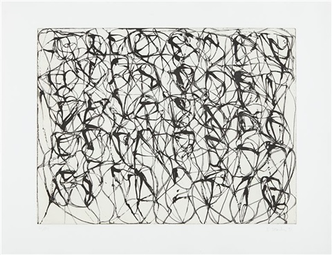 cold mountain series zen studies 1 6 plate 1 by brice marden