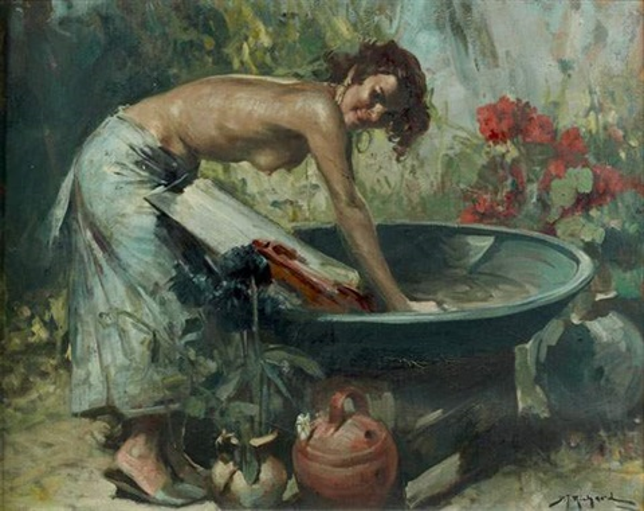 femme à sa lessive by richard durando togo