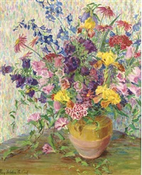 a vase of flowers by mary nicholena maccord