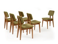 suite de six chaises (set of 6) by pierre guariche