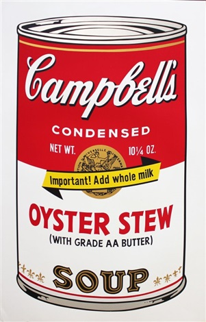 campbells soup ii oyster stew by andy warhol on artnet. Black Bedroom Furniture Sets. Home Design Ideas