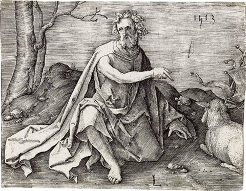 st john the baptist in the desert by lucas van leyden