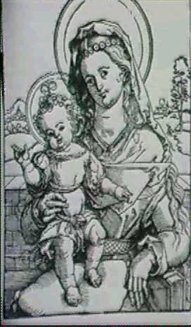 maria das stehende jesuskind auf dem schoss geisberg strauss 891 3 als hans von kulmbach by hans suess von kulmbach