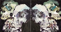 six skulls (diptych) by ben quilty