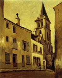 la rue de l'église by jean constant raymond renefer