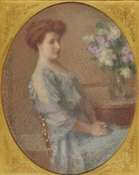 portrait de madame chardon de siroteau by ernest joseph laurent